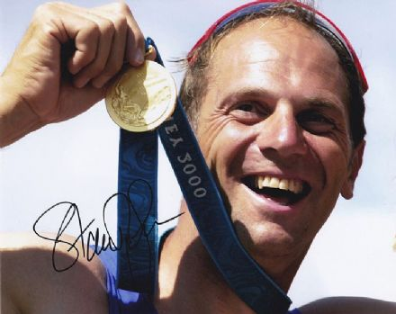 Sir Steve Redgrave, signed 10x8 inch photo.(2)